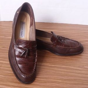 Etienne Aiger Leather Brown Tassel Loafers 8-1/2M
